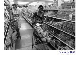 Shops in 1981